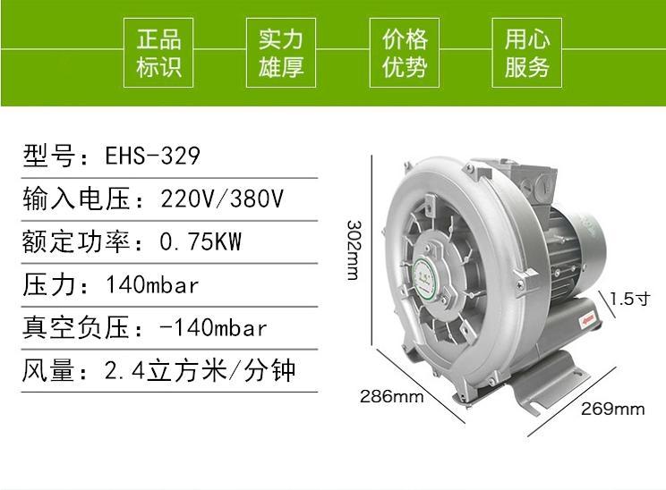 进口品牌风机EHS-329台湾升鸿高压风机